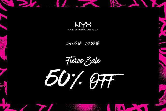เครื่องสำอาง NYX โปรโมชั่นลดราคา  50% OFF! เริ่ม 24 พฤษภาคม 2561 - 30 มิถุนายน 2561